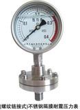 (螺纹连接式)不锈钢隔膜耐震压力表