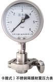 (卡箍式)不锈钢隔膜耐震压力表